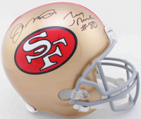Jerry Rice & Joe Montana Signed 49ers Full-Size Helmet (Beckett COA & JSA COA) at PristineAuction.com