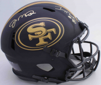 Jerry Rice & Joe Montana Signed 49ers Full-Size Authentic On-Field Matte Black Speed Helmet (Beckett COA) at PristineAuction.com
