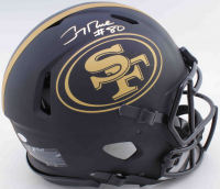 Jerry Rice Signed 49ers Full-Size Authentic On-Field Matte Black Speed Helmet (Beckett COA) at PristineAuction.com