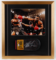 Mike Tyson Signed 21x23 Custom Framed Boxing Glove Display (PSA COA) at PristineAuction.com