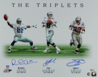 "Michael Irvin, Troy Aikman, & Emmitt Smith Signed Cowboys ""The Triplets"" 16x20 Photo (Beckett COA & Prova Hologram) at PristineAuction.com"