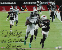 "D.K. Metcalf Signed Seahawks 16x20 Photo Inscribed ""Not So Fast Budda"", ""22.64 MPH"" & ""10/25/20"" (Beckett Hologram) at PristineAuction.com"