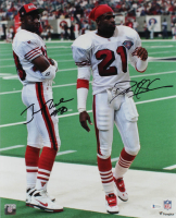 Deion Sanders & Jerry Rice Signed 49ers 16x20 Photo (Beckett COA) at PristineAuction.com
