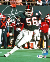 "Lawrence Taylor Signed Giants 8x10 Photo Inscribed ""HOF 99"" (Beckett COA) at PristineAuction.com"