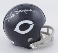 Gale Sayers Signed Bears Throwback Mini Helmet (JSA COA) at PristineAuction.com