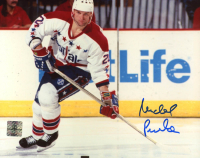 Michal Pivonka Signed Capitals 8x10 Photo (Jersey Source COA) at PristineAuction.com