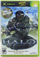 "Steve Downes & Jen Taylor Signed ""Halo"" Xbox Video Game Case Inscribed ""Master Chief 117"" & ""Cortana"" (Radtke COA) at PristineAuction.com"