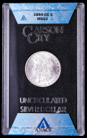1884-CC Morgan Silver Dollar (ANACS MS63 - GSA Holder) with GSA Box & Numbered Certificate at PristineAuction.com