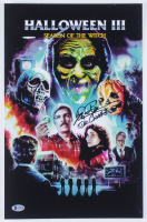 """Tom Atkins Signed """"Halloween III: Season of the Witch"""" 11x17 Photo Inscribed """"Dr. Challis"""" (Beckett COA) at PristineAuction.com"""