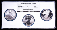 2006 American Silver Eagle $1 One Dollar Coins (3) Coin Multi Holder (NGC MS69 / Reverse PF69 / PF69 UC) at PristineAuction.com