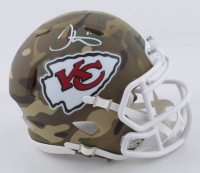 Tyreek Hill Signed Chiefs Camo Alternate Speed Mini Helmet (Beckett COA) at PristineAuction.com