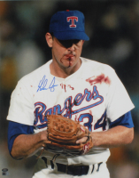 Nolan Ryan Signed Rangers 16x20 Photo (AI Verified COA & Ryan Hologram) at PristineAuction.com