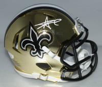 Alvin Kamara Signed Saints Chrome Speed Mini Helmet (JSA COA) at PristineAuction.com