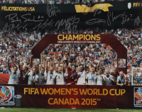 Team USA 16x20 Photo Team-Signed by (9) with Carli Lloyd, Julie Johnston; Morgan Brian (Beckett LOA) at PristineAuction.com