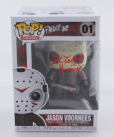 """Ted White Signed """"Friday the 13th: The Final Chapter"""" #01 Funko Pop! Vinyl Figure Inscribed """"Jason 4"""" (Beckett COA) at PristineAuction.com"""