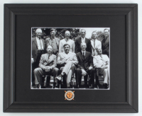 Babe Ruth & MLB Inaugural Hall of Fame Class 13.5x16.5 Custom Framed Photo Display with Vintage Hall of Fame Pin at PristineAuction.com