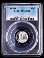 1945-D Mercury Silver Dime (PCGS MS65 Full Split Bands) at PristineAuction.com