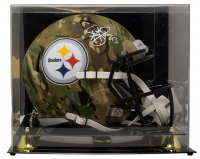 Troy Polamalu Signed Steelers Full-Size Camo Alternate Speed Helmet with Display Case (Beckett COA) at PristineAuction.com