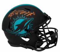 """Ricky Williams Signed Dolphins Full-Size Eclipse Alternate Speed Helmet Inscribed """"Smoke Weed Everyday!"""" (Beckett COA) at PristineAuction.com"""