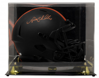 Nick Chubb Signed Browns Full-Size Eclipse Alternate Speed Helmet with Display Case (JSA COA) at PristineAuction.com