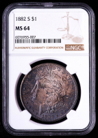 1882-S Morgan Silver Dollar (NGC MS64) (Toned) at PristineAuction.com