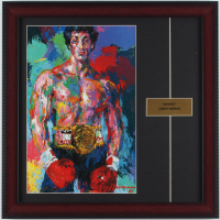 "LeRoy Neiman ""Rocky!"" 16x16 Custom Framed Print Display at PristineAuction.com"