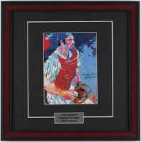 "LeRoy Neiman ""Thurman Munson- The Captain"" 16x16 Custom Framed Print Display at PristineAuction.com"