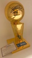 Dirk Nowitzki Signed 2011 NBA Champions Replica Larry O'Brien Trophy (Fanatics Hologram) at PristineAuction.com