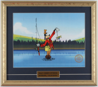 "Walt Disney's ""Goofy"" 16x18 Custom Framed (2) Piece Animation Sericel Display at PristineAuction.com"