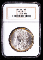 1884-O Morgan Silver Dollar (NGC MS64) (Toned) at PristineAuction.com