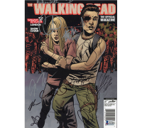 "2016 Issue #15 ""The Walking Dead"" Magazine Signed by (13) with Andrew Lincoln, Norman Reedus, Melissa McBride, Chandler Riggs (Beckett LOA) at PristineAuction.com"