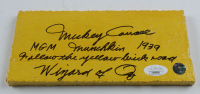 """Mickey Carroll Signed """"The Wizard of Oz"""" 3.5x7.5 Replica Yellow Brick Movie Prop with Multiple Inscriptions (JSA COA) at PristineAuction.com"""