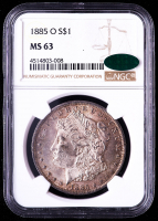 1885-O Morgan Silver Dollar (NGC MS63) (CAC) (Toned) at PristineAuction.com