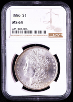 1886 Morgan Silver Dollar (NGC MS64) at PristineAuction.com