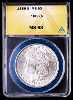 1886 Morgan Silver Dollar (ANACS MS63) at PristineAuction.com