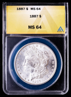 1887 Morgan Silver Dollar (ANACS MS64) at PristineAuction.com