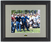 Ben Hogan & Arnold Palmer 13.25x16.25 Custom Framed Photo Display with Masters Tournament Ball Marker at PristineAuction.com