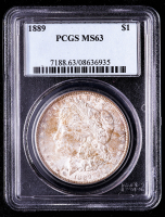 1889 Morgan Silver Dollar (PCGS MS63) (Toned) at PristineAuction.com