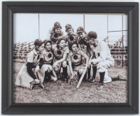 Rockford Peaches 13.5x16.5 Custom Framed Photo Display at PristineAuction.com