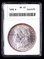 1898 Morgan Silver Dollar (ANACS MS63) at PristineAuction.com