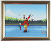 "Walt Disney's LE ""Goofy: How to Fish"" 13x16 Custom Framed Two-Piece Animation Cel Display at PristineAuction.com"