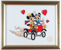 "Walt Disney's LE Mickey & Minnie Mouse ""Nifty Nineties"" 13x16 Custom Framed Animation Serigraph at PristineAuction.com"