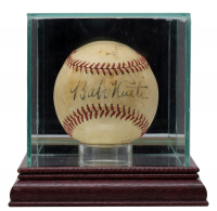 Babe Ruth, Cy Young & Connie Mack Signed ONL Baseball with Display Case (PSA LOA) at PristineAuction.com