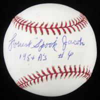 "Forrest ""Spook"" Jacobs Signed OML Baseball Inscribed ""1954 A's"" (JSA COA) at PristineAuction.com"
