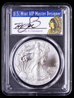 2020 American Silver Eagle $1 One Dollar Coin - First Strike - Thomas S. Cleveland Signed Label (PCGS MS70) at PristineAuction.com
