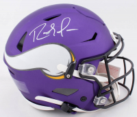 Randy Moss Signed Vikings Full-Size Authentic On-Field Matte Purple SpeedFlex Helmet (Beckett COA) at PristineAuction.com