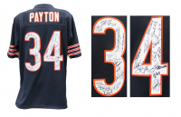 Walter Payton Jersey Team-Signed by (28) 1985 Bears with Mike Ditka, Mike Singletary, William Perry, Dan Hampton (Schwartz Sports COA) at PristineAuction.com