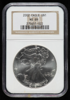 2002 American Silver Eagle $1 One Dollar Coin (NGC MS 69) at PristineAuction.com