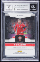 Cristiano Ronaldo 2019-20 Panini Obsidian Dual Jersey Ink Electric Etch Orange #3 (BGS 9) at PristineAuction.com
