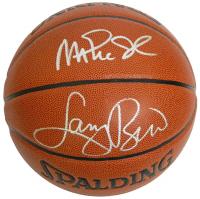 Larry Bird & Magic Johnson Signed NBA Basketball (Schwartz Sports COA) at PristineAuction.com